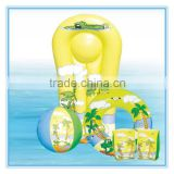 inflatable swimming sets, surf board & swim ring & beach ball & arm bands