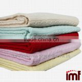 Chinese knitted cashmere blanket merino wool blanket factory