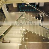 Safety Flat/Curve Tempered Glass For Railing Partitions Stair Balustrades & Handrails price per square meter