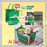 GRAB BAG Clip to Cart Reusable Shopping Grocery Bag As Seen on TV