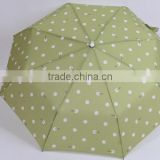 Folding umbrella with wood handle by umbrella manufacturer China