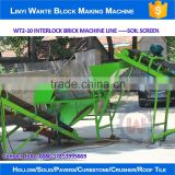 WANTE BRAND WT2-10 clay brick making machine line for Pakistan customer