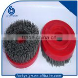 Round type powerful polishing diamond abrasive brush,antique brush for stone                                                                         Quality Choice