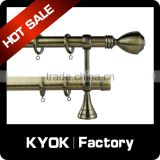 KYOK 2016 sumptuous stainless steel curtain rod accessories,window curtain rod sleeve,backdrop curtain rod