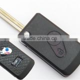 Modified remote key shell for CITROEN Saxo Picasso Berlingo 2 button flip car key cover case blank