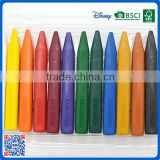 2016 wholesale 12 colors 3.5 inch wax crayons in pvc bag customized Logo printed crayons