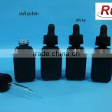 black glass square dropper bottle, 15ml 30ml square glass dropper bottle with matt surface