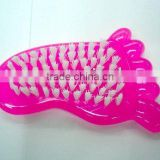 cute small feet shape plastic brush,cleaning cloth and shoe brush