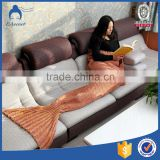 China manufacturer! Hot sale, home textile acrylic fabric, mermaid tail blanket for each age group