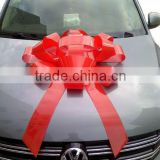 75cm Glossy Red Ribbon Indoor/ Outdoor Waterproof Vynil Ribbon Christmas Ribbon Gift Bow