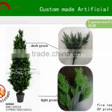Manufacture high quality cypress tree/ custom made artificial christmas cedar tree decoration