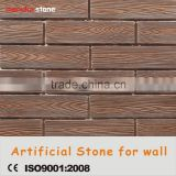 Exterior wall coating fire proof solid furface cement wooden tile