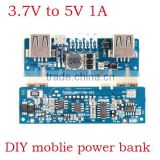 DC DC boost 3.7V to 5V 1A converter for 18650 battery DIY moblipe power bank double 2 USB output micro USB input