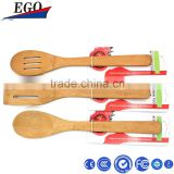 bamboo kitchen utensil set 3pcs bamboo Cooking tools turner spoon spatula with original color