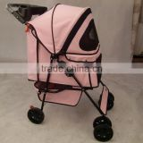 2016 pet stroller with 3 point canopy with game entrance window,with good designs 4 wheels keep your pet safe and comfortable
