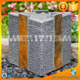 Natural stone garden pot for sale/slate containers casas/stone decorative plant pots indoor