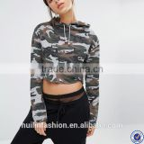 guangzhou hoodie factory suppliers long sleeve custom hoodie for women camo print crop top hoodies                                                                         Quality Choice