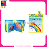 EN71 certificate infant learning toy educational baby cloth book
