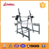 Hot strength training gym weight benches Olympic military bench multifunction fitness equipment sell in California,Dubai LJ-5826