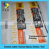 Lowest price waterproof custom light sticker roll blank label sticker perfume sticker label.