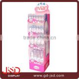 China supplier OEM acrylic sport water bottle display rack, sport water bottle floor stand
