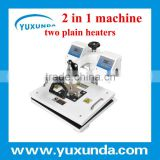 29X38cm 2 in 1 Digital T Shirt heat press machine, with two heaters and controller to press double sides