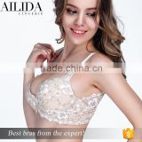 New Style Tight Fat Sexy Lace Women Nylon Sexy Ladies Model Bra