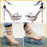 Elegant metal PU strap hollow ladies summer sandals women sandals new design sandals dubai