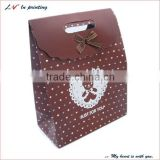 Custom popular and unique white kraft paper bag/ white portable craft paper bag/ gift paper bag white wholesale