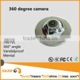 700TVL fisheye dome camera with 360 degree wide lens, with its engineering metal housing
