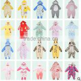 newborn 100% Colored cotton plain baby winter clothes factory organic baby rompers wholesale baby clothes