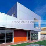 aluminum composite panel manufacture PVDF painting ACP facade cladding /modern exterior wall cladding material in Turkey