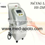qswitched laser tattoo removal machine HS 250 depigmentation treatment lighten dark spots by shanghai med apolo