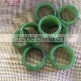natural green nephrite ring jade stone gift crafts