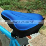 Blue Silicone Cycling Bike Bicycle Soft Thick Gel Saddle Seat Cover Cushion Pad