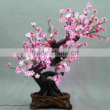 Holiday Decorative Beautiful Artificial peach blossom tree lights