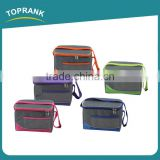 Toprank High Quality Outdoor Promotional Cheap Ball Shape 600D Insulated 6 Can Lunch Cooler Bag With Zipper
