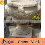 natural hand carved stone flower pot holder outdoor decoration NTMF- FP205X