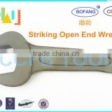 High Quality 45# Steel Slugging Open End Spanner,40 CR Striking Open End Wrench,Hammer Fix Spanner