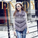 Hot Real Fox Fur Vest Top Quality Natural Fox Furs Waistcoat Jacket Woman Luxury Fox Fur Vest Gilets