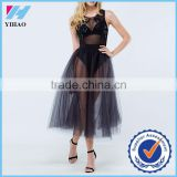 Dongguan Yihao 2016 Women's Black Mesh See-through Sexy Fashion Dress,Sexy Pictures Of Girl Without Dress