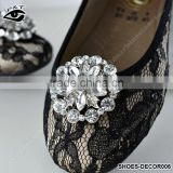4CM Rhinestones Shoe Decoration Clip-On Shoe Clip Deco Ornament with Metal Clip Jewelry Accessories for Shoes Hat
