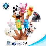Custom plush finger puppets toys mini stuffed animal finger puppets for kids