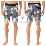 latest fashion oem custom printed boardshorts 4 way stretch surf mens swimwear swimming trunks