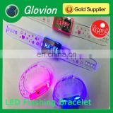 LED Flashing silicon wristband adjustable silicon wristband led wristband