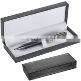 luxury twist frosted black barrel metal ball pen with gift box RB17091