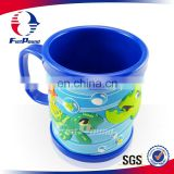 Plastic cup soft pvc mug cup for promotional gift