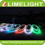 clear kayak with LED light for night tour