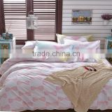 Cute girls bedding set pink bow printed kids comforter cover sets eco-friendly children quilt cover set