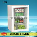 130L Counter top tabletop mini bar vertical refrigerator visi cooler                                                                         Quality Choice